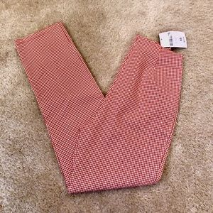 NWT Red and Cream Gingham Pants High Waist XS